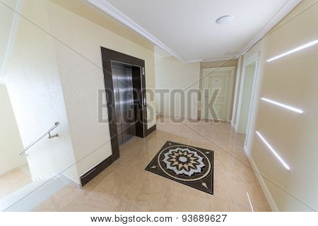 ADLER, RUSSIA - JULY 21, 2014: elevator and a staircase in El Paraiso hotel