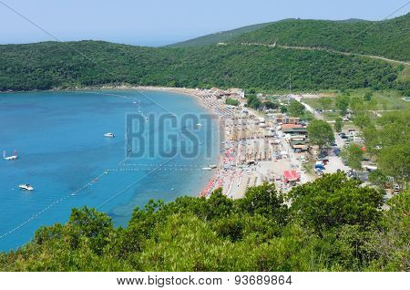 sea and sand beach in Budva municipality, Montenegro