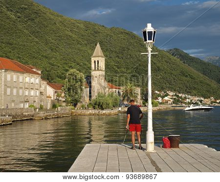picturesque village along Kotor Bay, Montenegro
