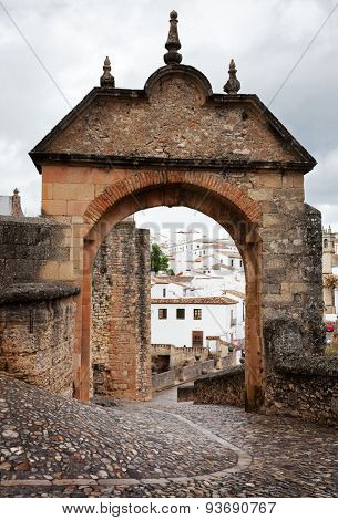 Puerta de Felipe V  is a historical architectural element of the town of Ronda, Andalusia, Spain.