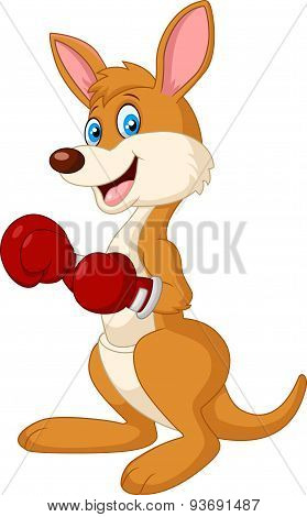 Cartoon Kangaroo boxing