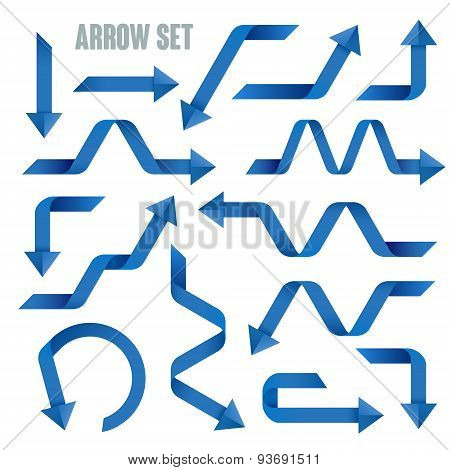 Useful Blue Arrows Set Collection