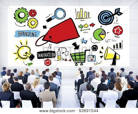Business People Branding Product Marketing Seminar Concept