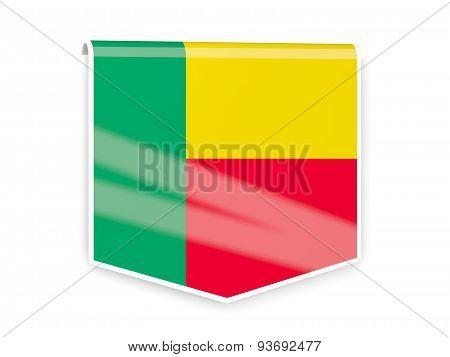 Flag Label Of Benin