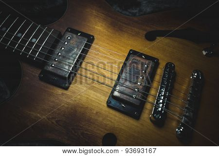 Guitar with rusty pickups