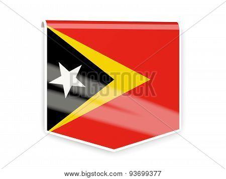 Flag Label Of East Timor