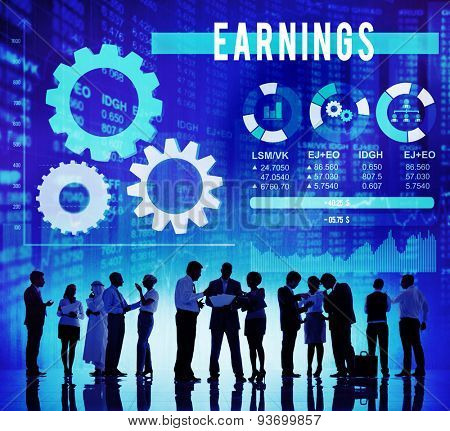 Earnings Financial Income Costs Money Concept