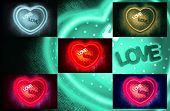 picture of fluorescent  - Collage of photos with heart - JPG