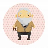 picture of grandfather  - Grandfather Theme Elements - JPG