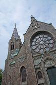 stock photo of gothic  - Falkenberg church built in neo - JPG