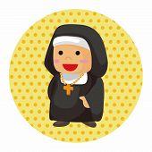 pic of nun  - Pastor And Nun Theme Elements - JPG