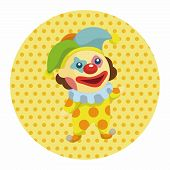 foto of clown face  - Clowns Theme Elements - JPG