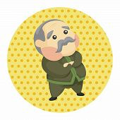 stock photo of grandfather  - Grandfather Theme Elements - JPG