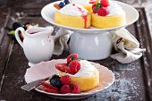 image of fill  - Pasrtry cups filled with whipped cream and fresh berries - JPG