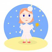 picture of magic-wand  - Illustration in cartoon style  - JPG