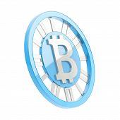 stock photo of bit coin  - Bitcoin peer - JPG