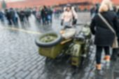 picture of parade  - Parade on Red Square in Moscow blur background with bokeh effect - JPG