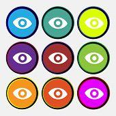 image of senses  - sixth sense the eye icon sign - JPG
