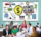 stock photo of policy  - Business Insurance Policy Guard Safety Security Concept - JPG