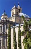 image of 1700s  - San Francisco el Grande Royal Basilica Steeples Outside Madrid Spain - JPG