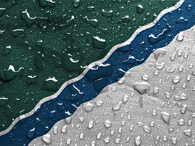 foto of novosibirsk  - a flag of Novosibirsk with rain drops - JPG