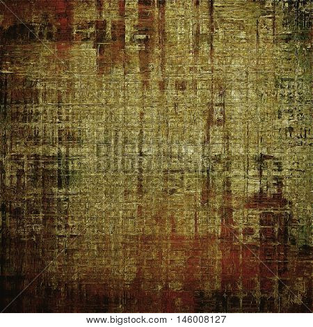 Abstract grunge background or damaged vintage texture. With different color patterns: yellow (beige); brown; gray; red (orange); black