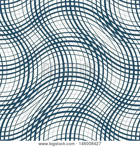 Vector ornamental continuous background made using undulate lines and curves.
