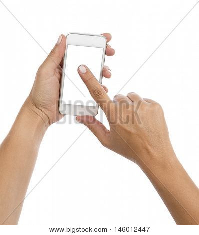 Smart Phone on Hand Isolated