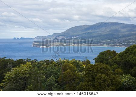 View From Pirate Bay At Eaglehawk Neck, Tasmania.