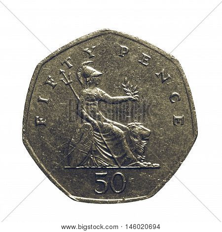 Vintage Fifty Pence Coin