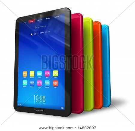 Set kleur Tablet PC 's