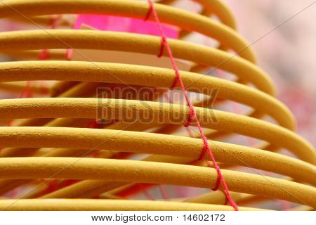 Circular Incenses, Decorations Of Traditional Chinese Buddhism Temple Of East.