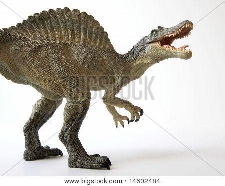 A Spinosaurus Dinosaur with Gaping Jaws