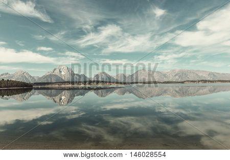 Grand Teton National Park, Wyoming, USA. Instagram filter.