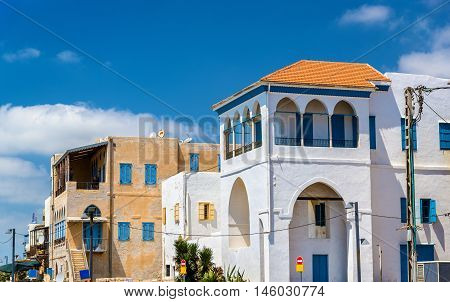 Houses at the seaside of the Old Ciyt of Acre- Israel