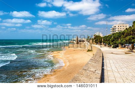 Seaside promenade in Acre - Israel, Northern District