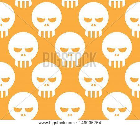 Seamless Evil Skull Pattern