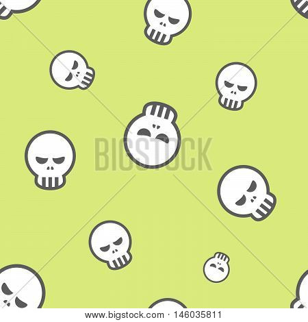 Seamless Human Skull Pattern