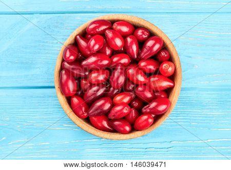 Cornelian Cherries In Bowl