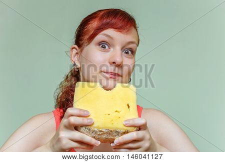 Girl Bites Cheddar
