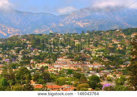 View from Santa Barbara city hall tower - USA