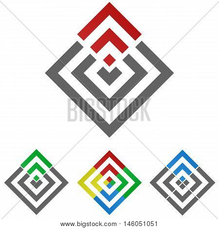 Square logo vector. Square icon symbol design template set