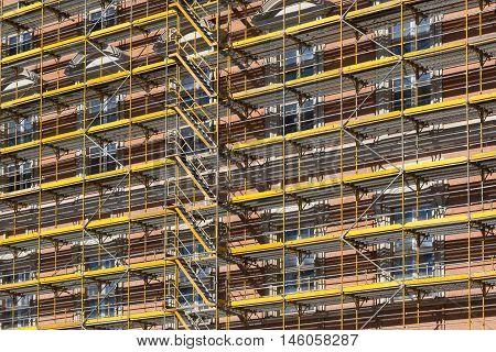 Scaffolding  - Building Facade Construction Site