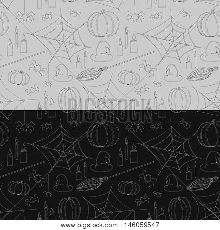 Seamless pattern for Halloween or All Saints' Day