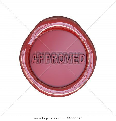 Wax seal with approved text