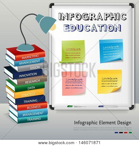 Workplace Education infographic. Can used for presentation,information,background,data,diagram and infographic. Vector illustration education concept.
