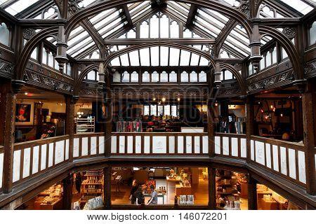 Interior Of Liberty In London, Uk
