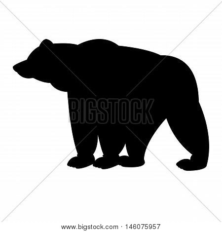 Bear goes vector illustration isolated black silhuette