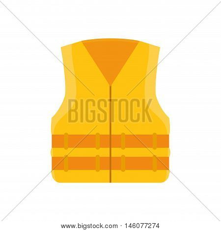 yellow jacket uniform  work safety  industrial security equipment vector illustration