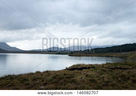 A view of Lough Inagh, Connemara, Co. Galway, Ireland.